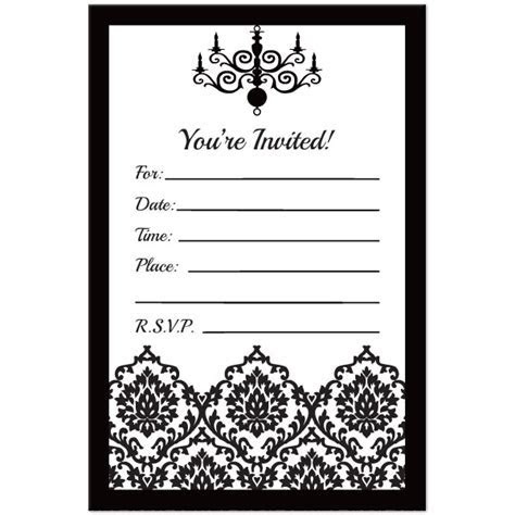 Free Printable Black And White Birthday Invitations