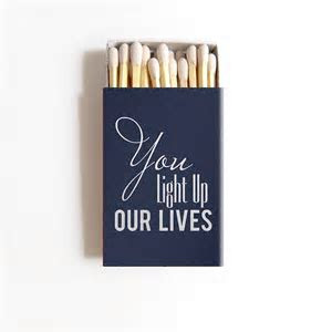 You Light Up Our Lives Matchbox Wedding Favors