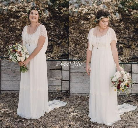 2015 Ivory Bohemian Wedding Dresses Plus Size Maternity
