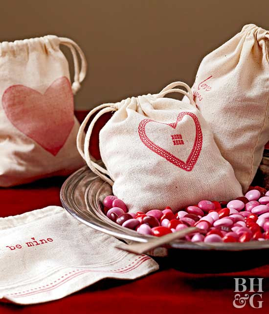 Stamped Muslin Candy Bags