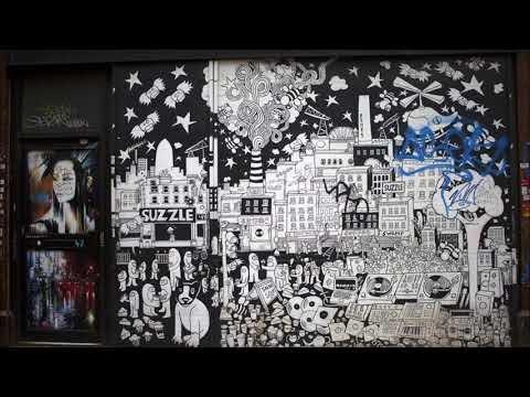 Streetart, Graffiti And Murals.