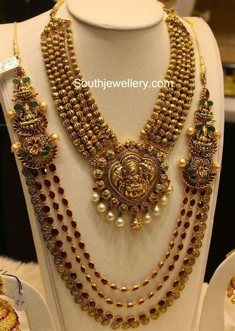 latest temple jewellery designs   antique jewellery in