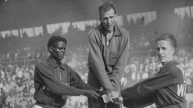Power on top of the podium at the 1958 Commonwealth Games.
