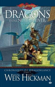 Couverture Dragonlance : Chroniques de Dragonlance, tome 2 : Dragons d'une nuit d'hiver