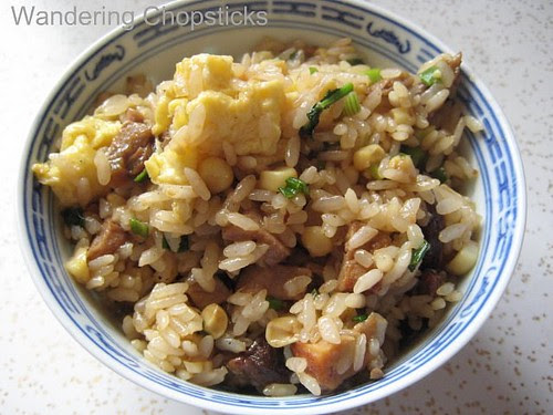 Fried Rice with Pork, Corn, and a Ladle of Ramen Broth 1