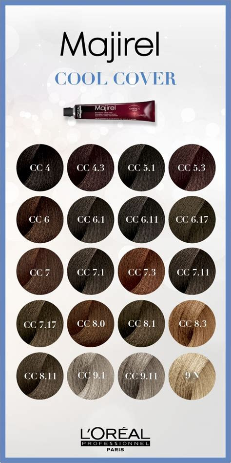 majirel cool cover  cool hair color    permanent   intense cool reflects
