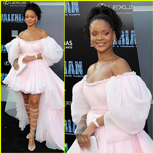 Rihanna Stuns in Flowing Pink Tulle Gown at 'Valerian' Premiere