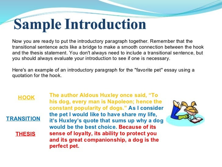 how to write an introduction paragraph for an essay about a book