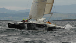 Our boat Blue Chip - the only trimaran in the race