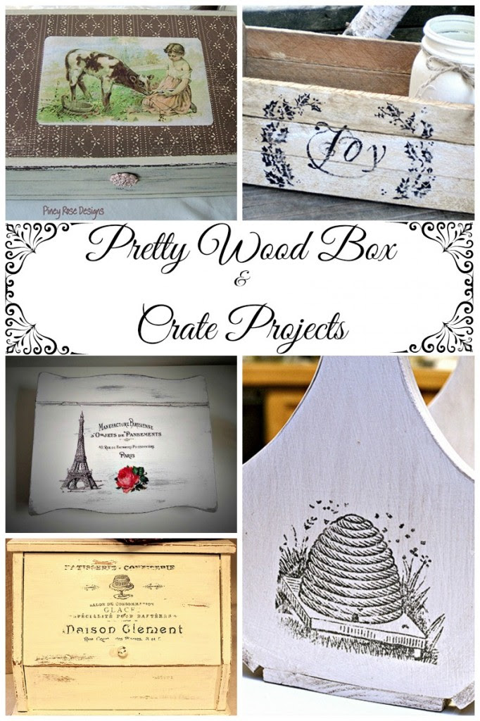 8 Pretty Wooden Box and Crate Projects