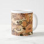 Personalize: Abstract Nature Photo Autumn Camo 20 Oz Large Ceramic Coffee Mug