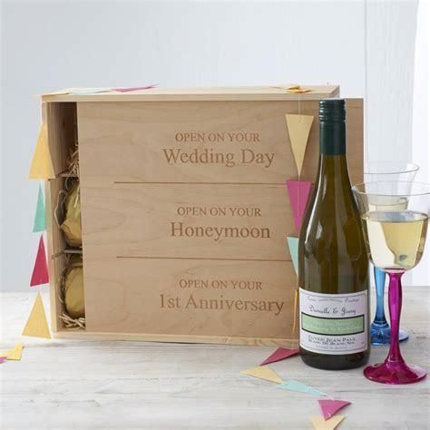 personalised wedding wine box by intervino