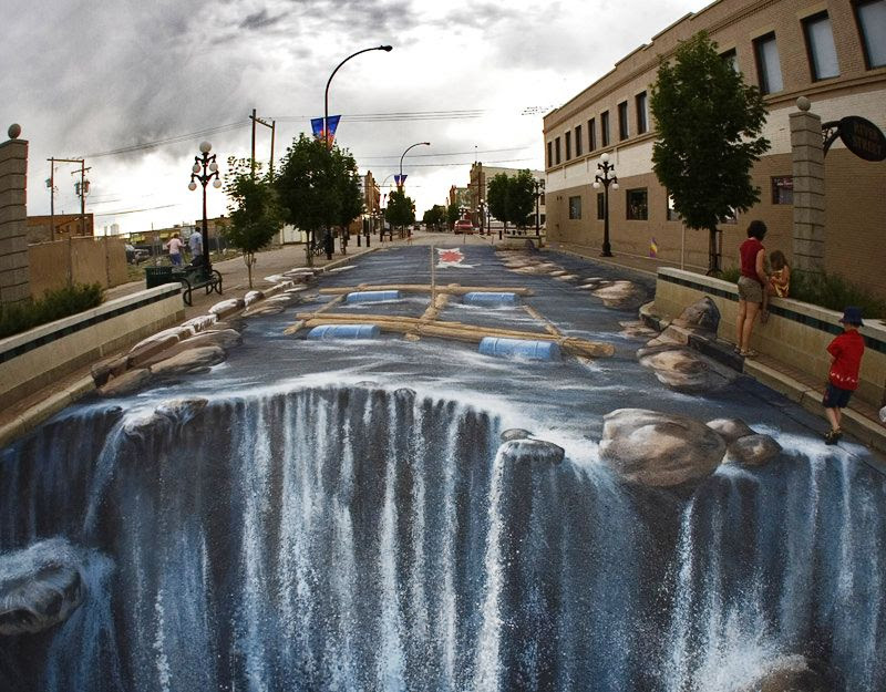 F9LJW The Incredible World Of 3D Street Art
