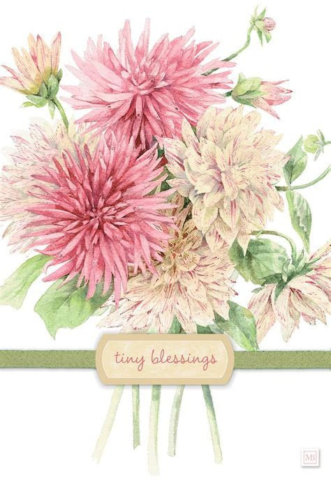 Tiny Blessings Marjolein Bastin Birthday Card   Greeting