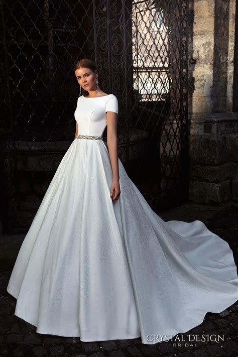 Crystal Design 2016 Wedding Dresses   Sleeve, A line and Gowns