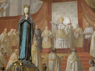 Francesco Podesti, musei vaticani. Gli affreschi della sala dell'Immacolata sono l'ultimo kolossal pittorico romano, prima del grigio diluvio democratico.