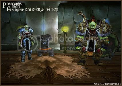 Postcards of Azeroth: Dagger & Totem, by Rioriel of theshatar.eu