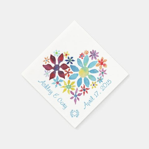Heart of Flowers Disposable Napkin