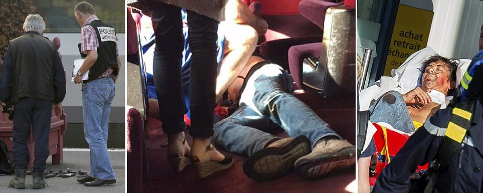 U.S Marines 'take down' armed Moroccan gunman onboard a French train