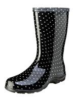 Black & White Polka Dot Rain Boots