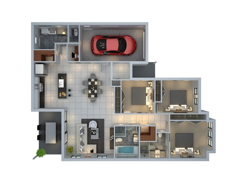 3d house plans  Interior Design Ideas.