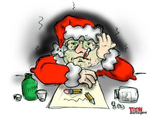 The Twelve Cartoons of Christmas ran smack-dab into the Flu before Christmas!