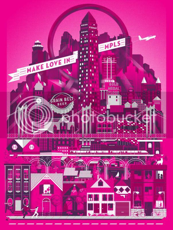 make love in minneapolis print