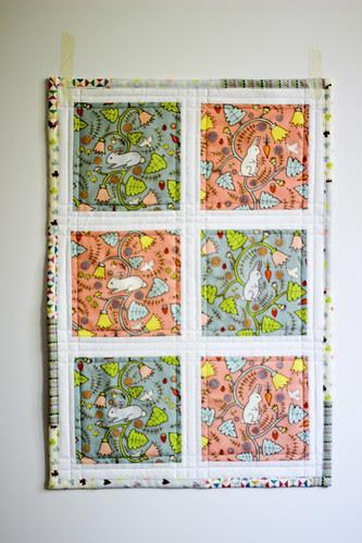 Rabbit Mini Quilt by jenib320