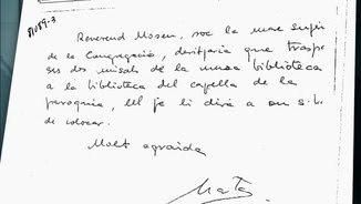 Manuscrit que hauria escrit Marta Ferrusola per fer una transferència a Andorra