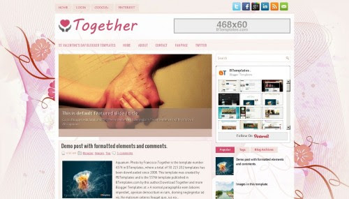 """""""Together"""" Family Blog Templates Free + Cute Design"""