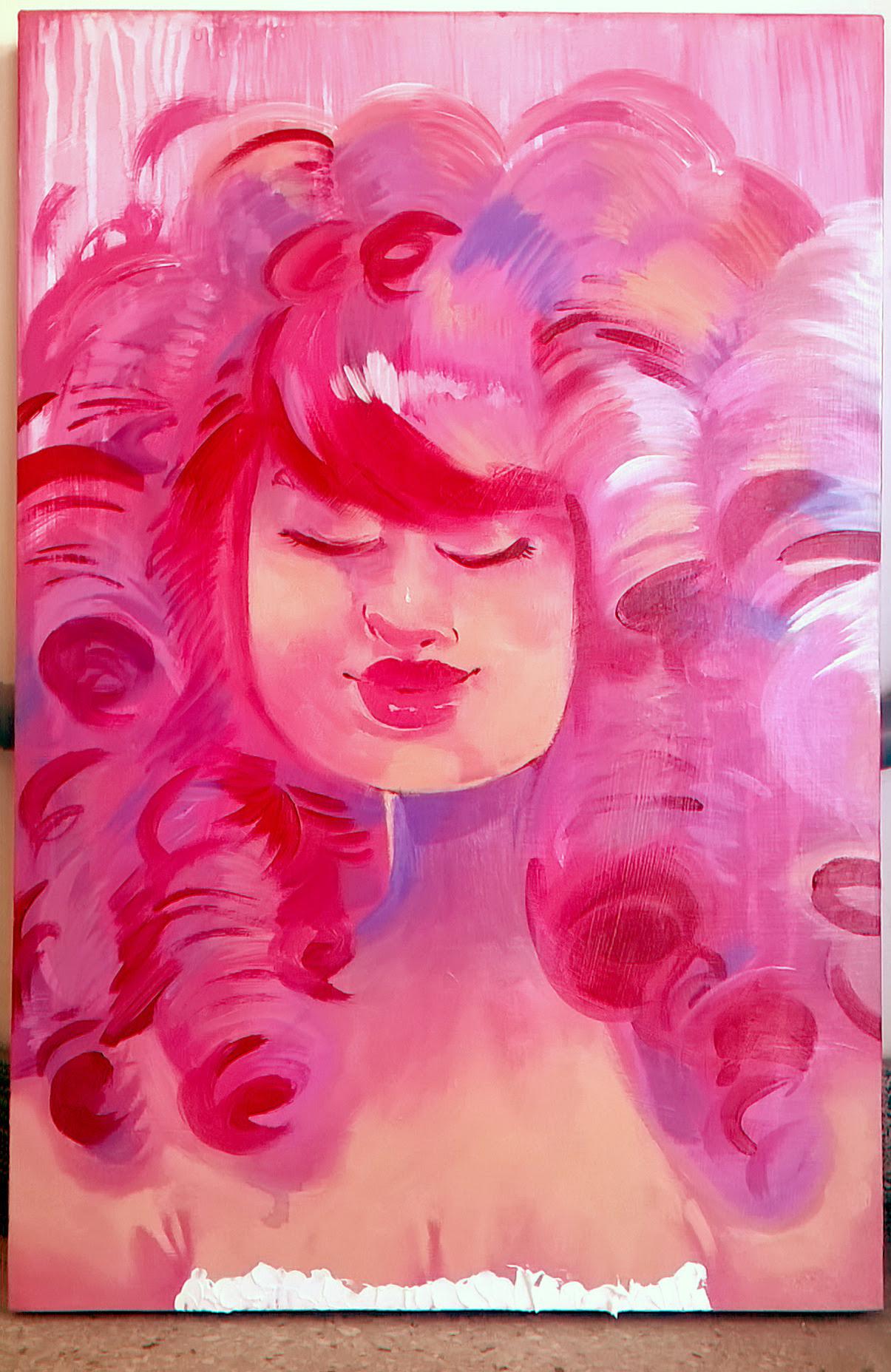 Rose Quartz 💖 Acrylic on Canvas 2017