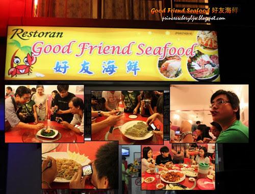 Good Friend Seafood food tasting behind the scene