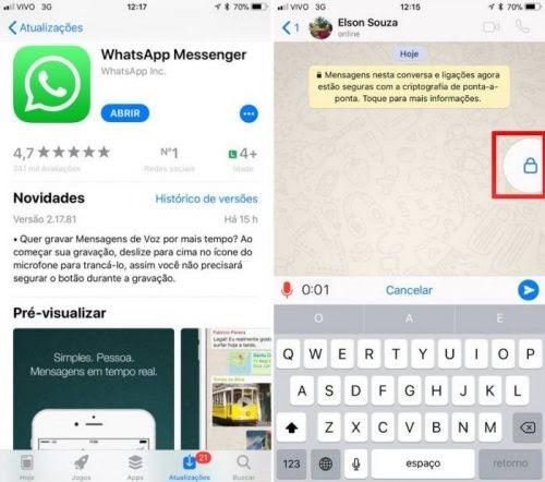 WhatsApp libera novo jeito de gravar áudio