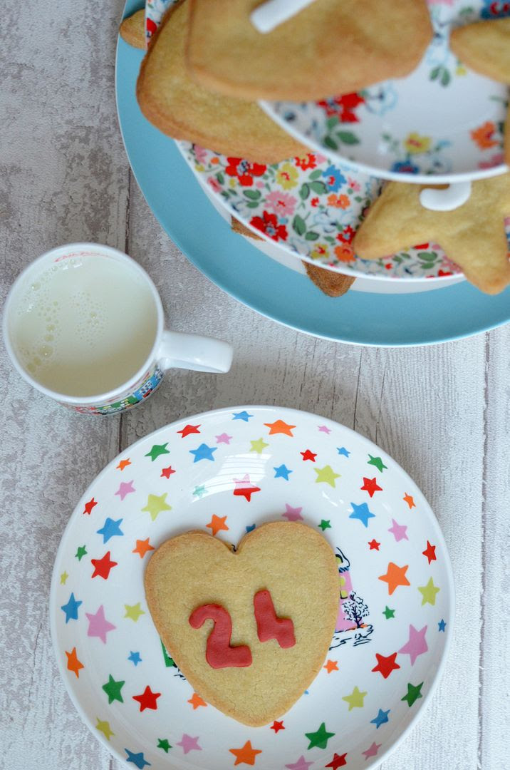 Ginger Shortbread Advent Calendar Biscuits