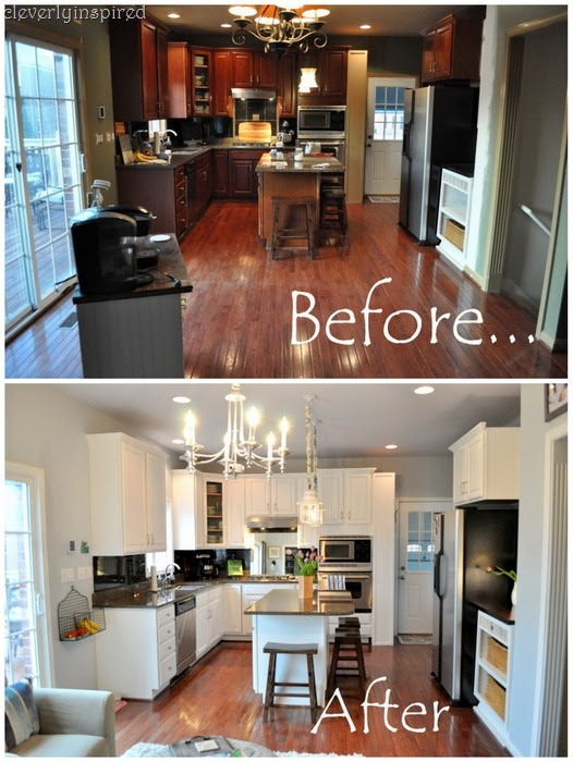 How New Lighting and Paint Brightened Up A Dark Kitchen | DIY