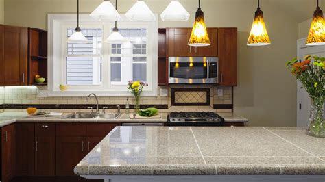 surprisingly modern tiled countertops