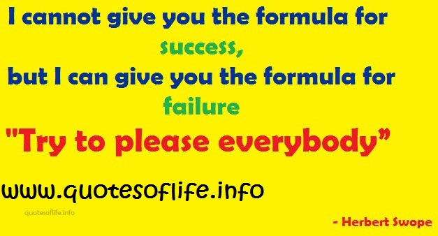 Quotes About Formula For Success 58 Quotes