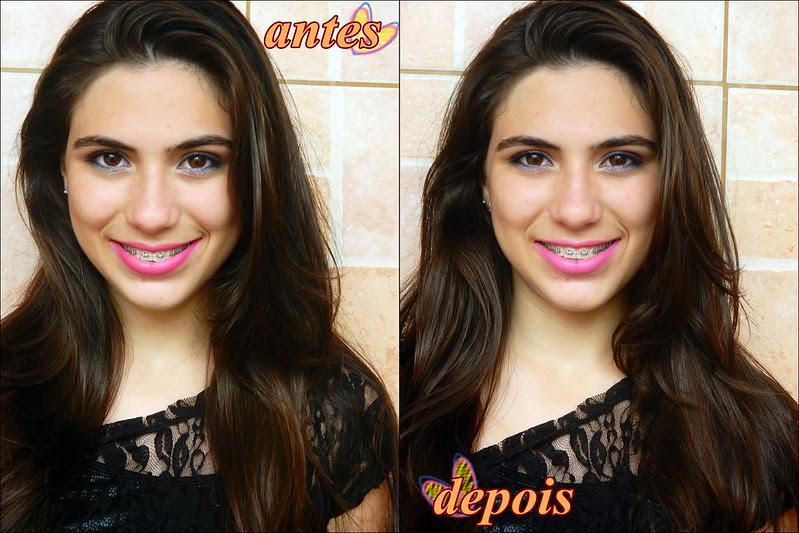 juliana leite matificando o batom blog rosa matte como fazer tutorial video mudo cabelo grande picotado antes e depois