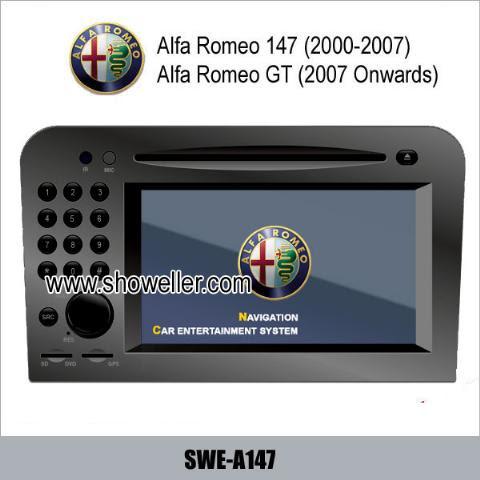 Alfa Romeo 147 Romeo GT stereo radio car DVD player GPS TV SWEA147
