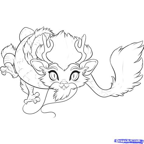 draw  chibi chinese dragon step  step chibis