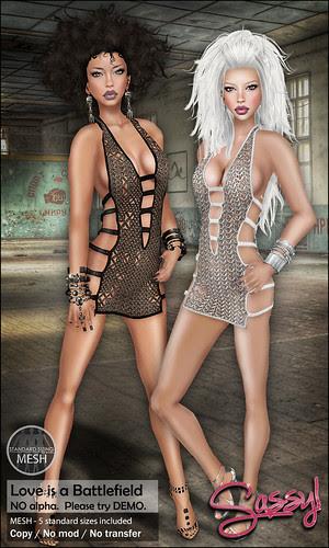 Sassy! Love is a Battlefield dress