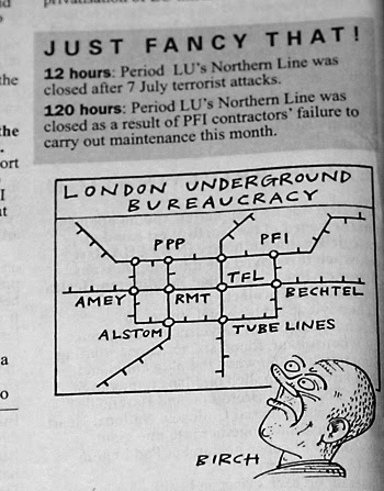 Private Eye comment & cartoon on the Northern Line