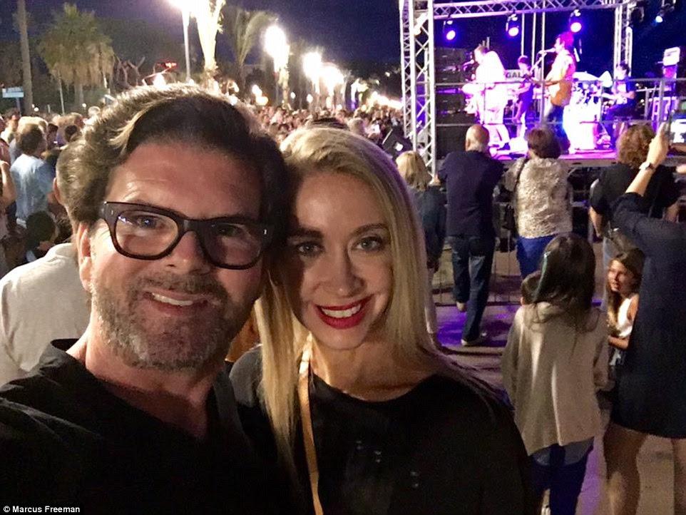 turistas australianos Marcus e Sally-Anne Freeman foram em Nice para o Dia da Bastilha e tiraram fotos antes do massacre teve lugar