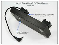 DF1035: Always Ready Flash & PW Stand / Bracket - Bottom View