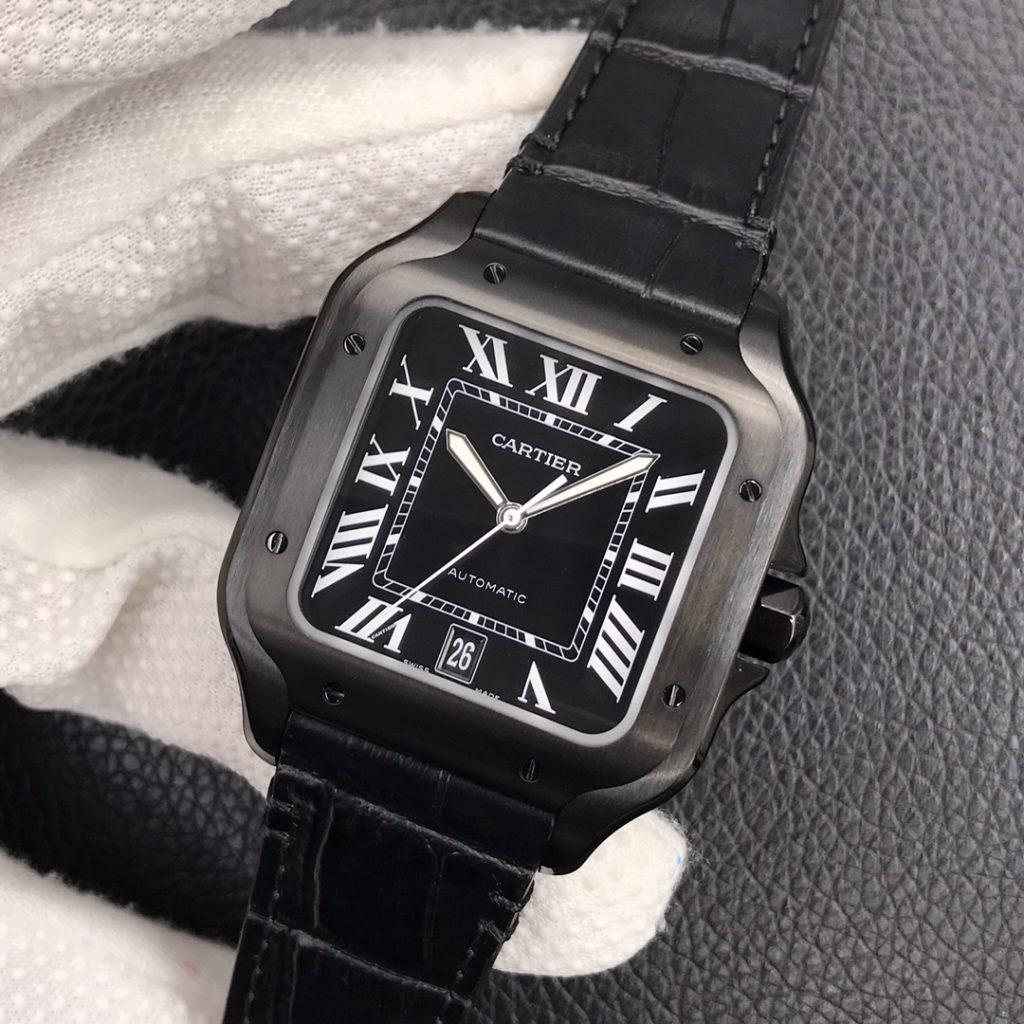 Replica Cartier Santos Black Watch