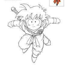 Dibujos Para Colorear Son Goku Es Hellokids Com