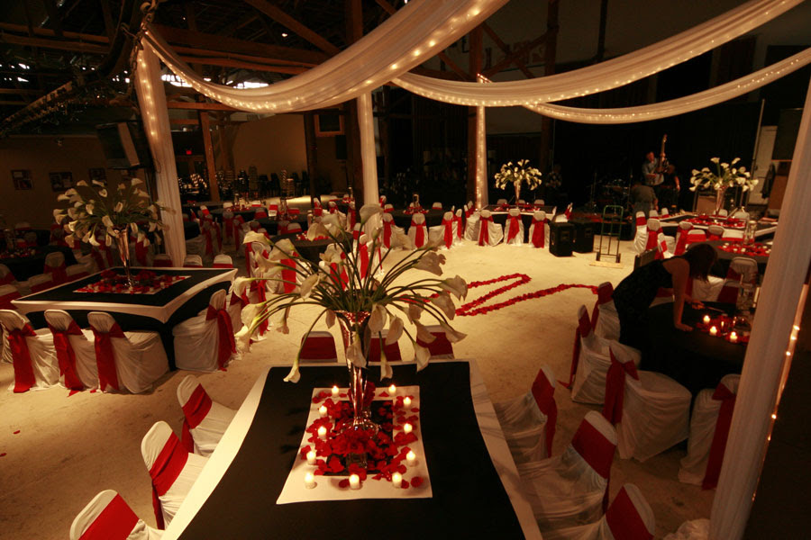 Red Winter Wedding Centerpieces Wedding Decorations