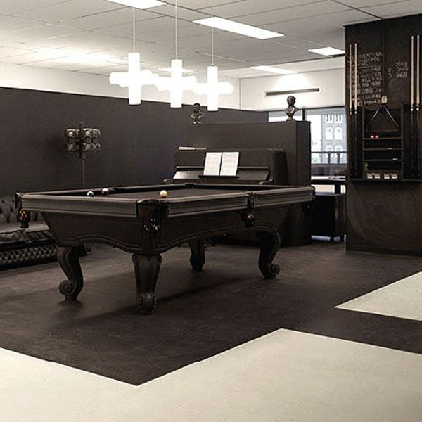 contempory billiard table in office room