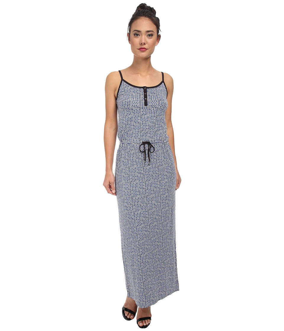 Calvin Klein Jeans - Printed Cinched Waist Maxi (Splendor) Women's Dress
