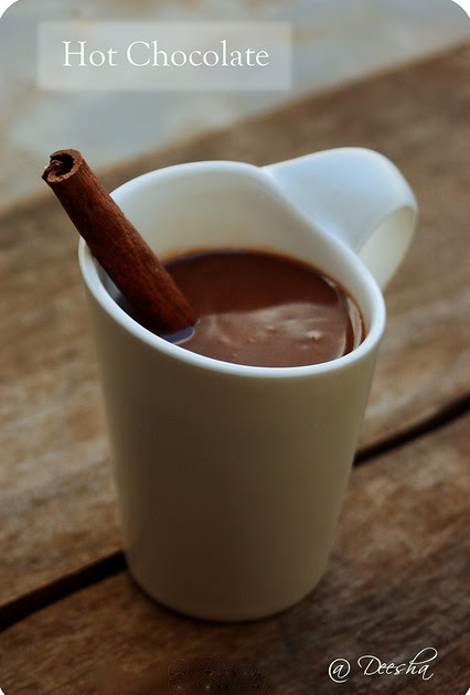 Vegetable Platter Cinnamon Spiced Hot Chocolate The
